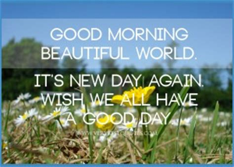 Good Morning Its A Beautiful Day Quotes