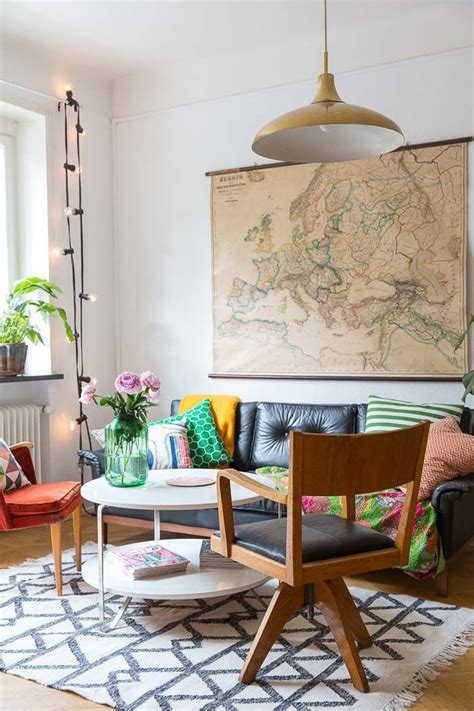 Designer Details Colorful Home by A Colourful Apartment In Malm 246 Living Rooms Retro