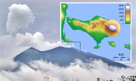 bali volcano map latest maps  mount agung threatens