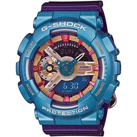 Casio G Shock GMAS 110HC Analog Digital Watch   Purple