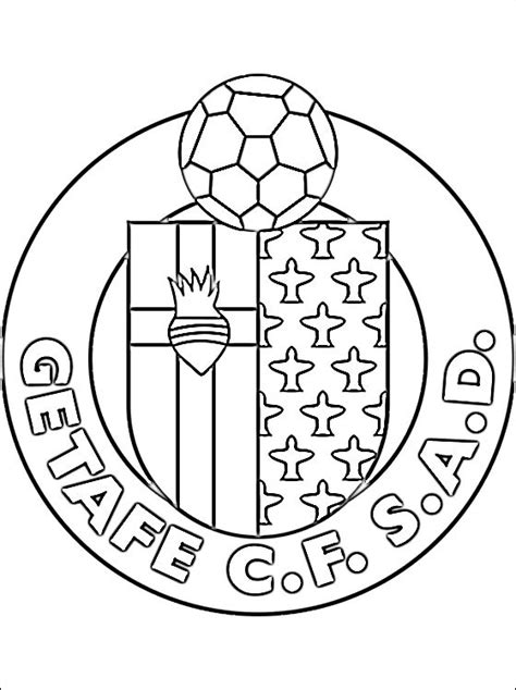 Kleurplaat Spaanse Vlag by Kleurplaat Getafe Cf Logo Gratis Kleurplaten