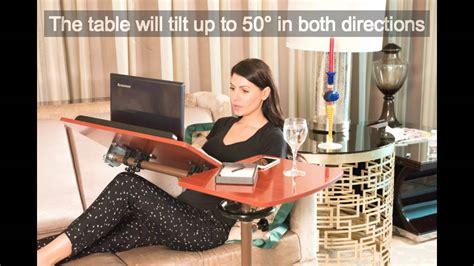 sharper image best over bed table overbed adjustable tilt table best over bed table youtube