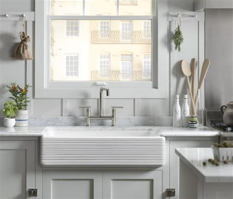 apron front farmhouse kitchen sinks apron front sinks beyond the farmhouse kohler ideas 7501