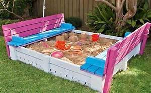 © Creative Ideas: DIY project : sandpit with cover made