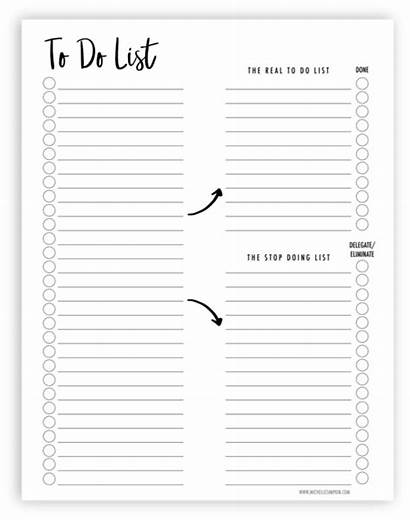 Printable Shit Lists Planner Declutter Dos Done