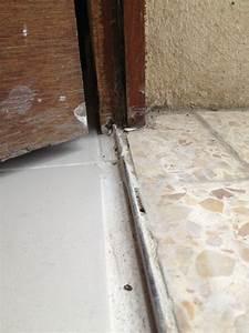 seuil de porte pose nouvelle porte d39entree With barre de seuil porte d entree