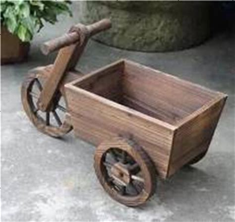 wooden bicycle planter garden decoration buy bicycle