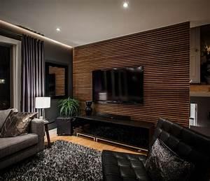 Wandgestaltung Wohnzimmer Erdtöne : 30 fotos von origineller wohnzimmer wandgestaltung ~ Markanthonyermac.com Haus und Dekorationen