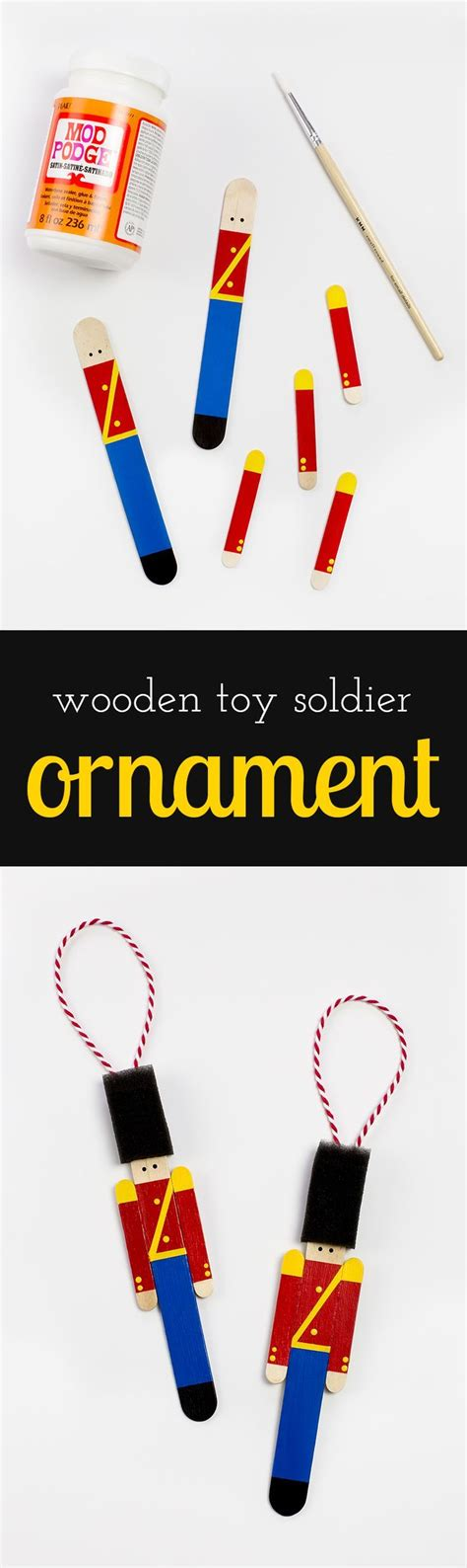toy soldier craft for kids how to make a popsicle stick soldier ornament play