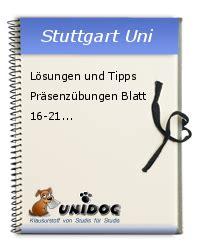 Lösungen Und Tipps Präsenzübungen Blatt 1621