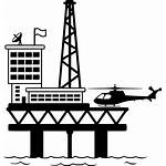 Oil Platform Rig Icon Gas Icons Industry