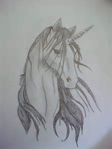 Unicorn Head Drawings