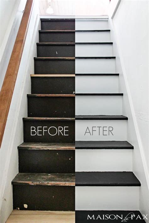 black  white painted stairs painted stairs attic