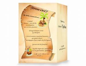 Modele De Menu A Imprimer Gratuit : menu de bapt me sur le th me pirate ~ Melissatoandfro.com Idées de Décoration