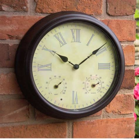 town and country weathereye led outdoor clock on sale