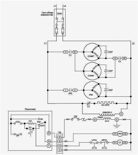 Air System Schematic by Electrical Wiring Diagrams For Air Conditioning Systems