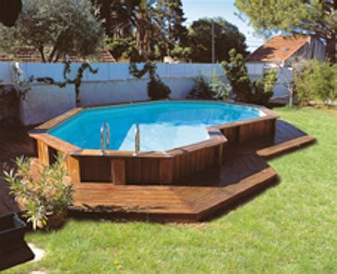 above ground swimming pools with decks pool backyard designs appealing above ground pools with decks with dark wood deck chairs