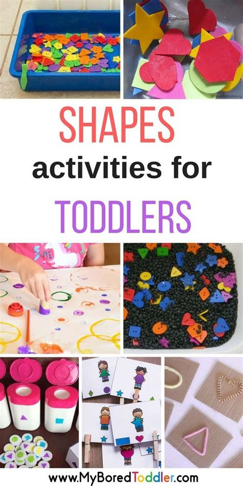 shapes activities  toddlers shape crafts activities