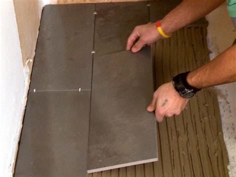 How To Lay A Tile Floor In A Bathroom by How To Install A Plank Tile Floor How Tos Diy