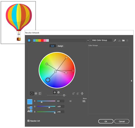 color wheel adobe work with color groups harmonies in illustrator