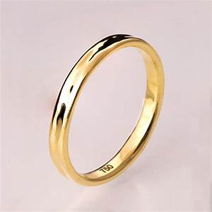 simple gold wedding band 14k gold ring unisex ring With 14k gold wedding rings
