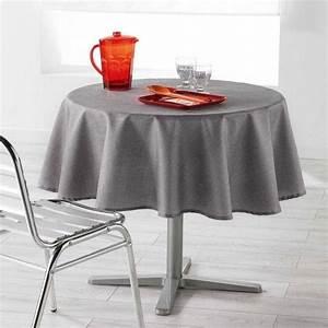 Nappe Table Ronde : nappe de table ronde linge de table eminza ~ Teatrodelosmanantiales.com Idées de Décoration