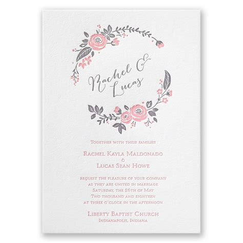 pretty perfect letterpress invitation invitations  dawn