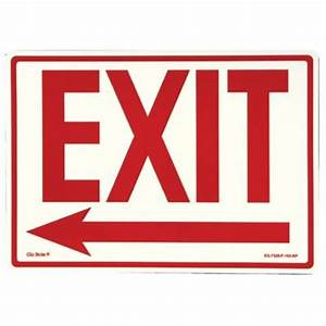 Glow In The Dark Exit Signs - peel and stick eg sign glow