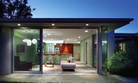 desain pintu kaca geser rumah modern rancangan desain