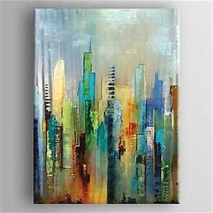peint a la main abstrait verticalemoderne style europeen With peinture a l huile pour mur