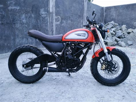 Modification Motor Scorpio by Modifikasi Scorpio Scrambler Dengan Sentuhan H D Ultra Classic