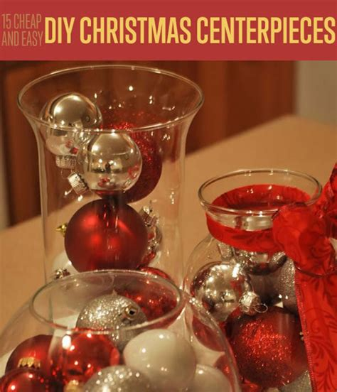 15 cheap and easy diy christmas centerpieces christmas