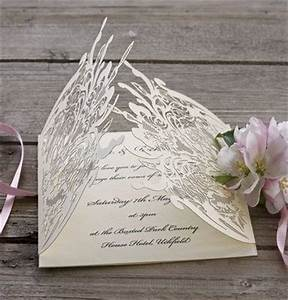 lace satin and laser cut wedding invitations on pinterest With ribbon around wedding invitations