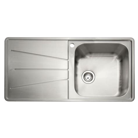 inset stainless steel kitchen sinks caple blaze 100 1 0 bowl inset kitchen sink sinks taps 7530