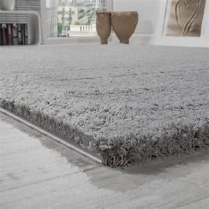 Wohnzimmer Teppich Grau : shaggy teppich micro polyester wohnzimmer teppiche elegant hochflor grau wohn und schlafbereich ~ Indierocktalk.com Haus und Dekorationen