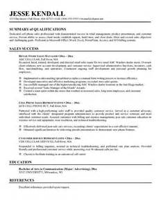 resume objective statements entry level sales resume summary exle whitneyport daily com