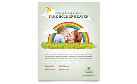 foster care adoption flyer template word publisher