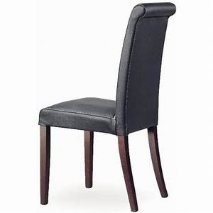 Chaise En Cuir Noir : chaise cuir et bois marrion r et chaises en cuir europea chaises marron noir blanc rouge ~ Teatrodelosmanantiales.com Idées de Décoration