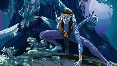 Avatar Neytiri Wallpapers Forest Backgrounds Deviantart Spirits