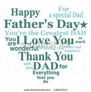 Happy Fathers Day Message Card Design Stock Illustration ...
