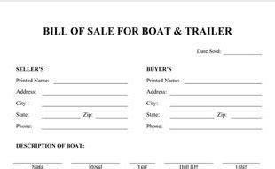 boat bill of sale template boat bill of sale template