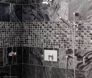 bathroom designs with walk in shower basket weave pebble designed shower modern bathroom