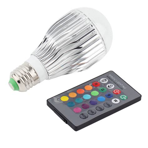 remote control color changing lights 9w e27 multi color change rgb led light bulb l with