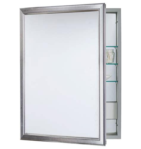 Framed Medicine Cabinets Brushed Nickel Roselawnlutheran