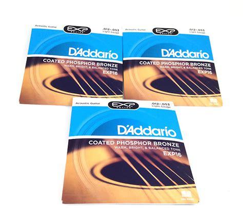 d addario exp16 acoustic guitar strings light 3 pack