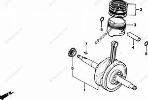 Honda Scooter 1988 Oem Parts Diagram For Crankshaft