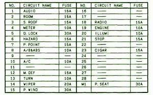 1999 Mazda 626 Joint Fuse Box Diagram  U2013 Circuit Wiring