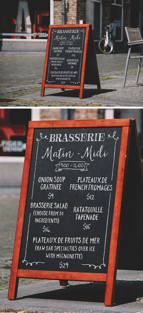 frame chalkboard menu mockup graphicburger
