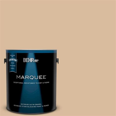 soft wheat paint color behr marquee 1 gal bxc 40 soft wheat satin enamel exterior paint and primer in one 945401