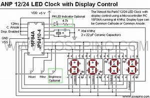 U0026 39 Almost No Parts U0026 39  12  24hrs Led Clock